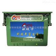 军绿色10.1寸前折吸顶车载显示器 高清工控屏 宽电压