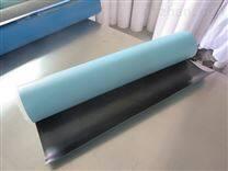 天蓝色抗静电地胶电脑机房地面铺设2mm3mm可用适合人员走动