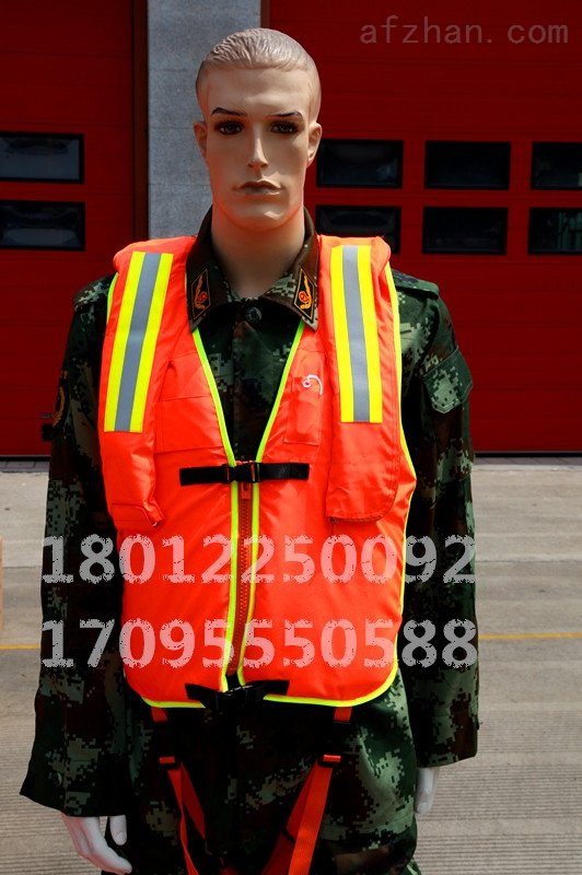 LJ消防、边防、海监专用国标气瓶充气复合工作救生衣 工作救生衣加气胀救生衣组合