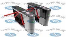 ZTD景区圆弧形刷身份证二维码顶盖及两侧带指示灯单机芯通道闸