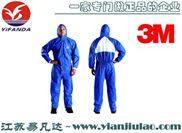 蓝色带帽连体防护服