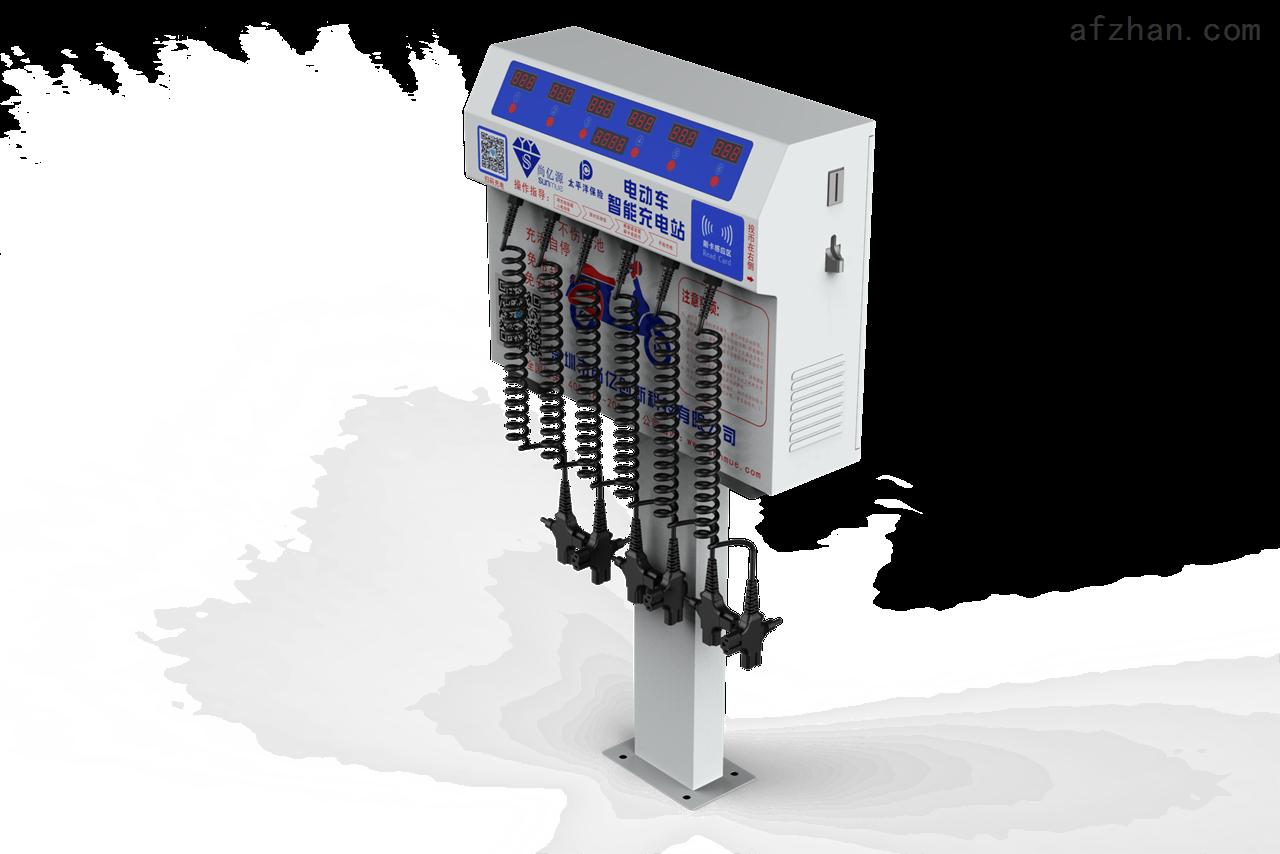 产品参数: 产品型号:6路投币刷卡扫码电动车充电站 产品尺寸:490*135*388(mm)(含桩高:1100mm) 产品净重:10Kg 待机功耗:3.0W 输入电压:AC220V/50Hz 输出电压:DC24-84V,24V-72V所有电瓶车 充电路数:6路 单通道zui大负载功率:300瓦 环境温度:-30--50 支付方式:投币、刷卡、扫码支付 6路投币刷卡扫码电动车充电站 产品特点: 可自主设定投币或刷卡的通电时间,1-999 分钟可调。 设有保护电路,具有过流、过载和短路、漏电保护功能