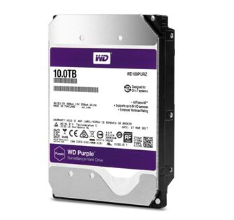 西部数据将监控级硬盘容量提升至10TB