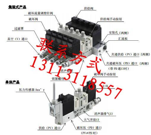 smc电磁阀3根线接线图